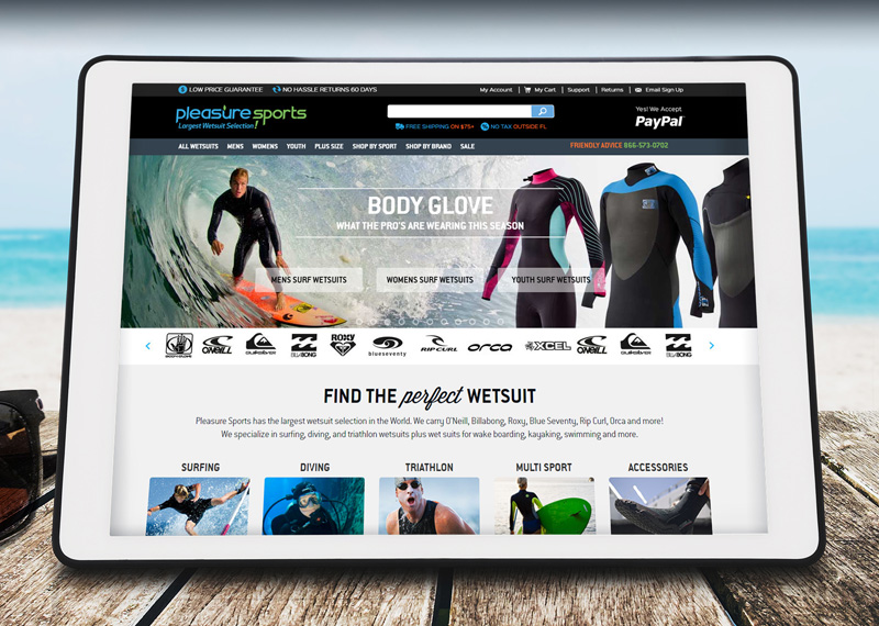 Pleasure Sports Web Design & Developoment